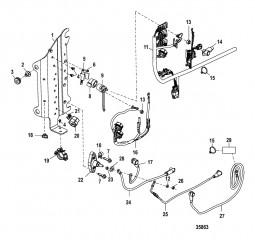 Компоненты электрической панели Серийный номер 1B723943 и выше