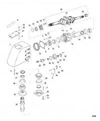 Схема Корпус карданного шарнира Мокрый поддон SSM VI (позднее исполнение, модели до 1998 г.)
