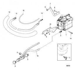 Схема Закрытая система охлаждения (BRAVO) шланги насоса забортной воды (SeaCore)