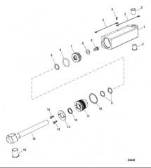 Компоненты цилиндра рулевого механизма