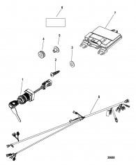 Комплект блока управления Консольное крепление – DTS (одинарный)