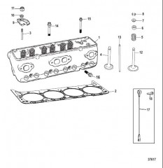 Схема Головка цилиндра в сборе