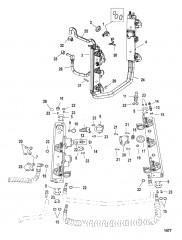 Схема Компоненты набора прокладок силовой головки