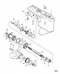 Схема Картер редуктора Вал гребного винта – № отливки 1674-814247C