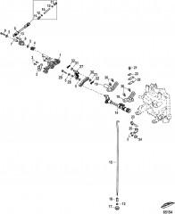 Тяга газа/тяга управления переключением передач Румпель