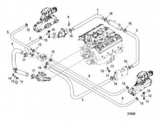Схема Стандартная система охлаждения (Ручной слив)