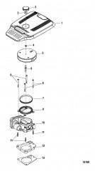 Схема Корпус дроссельной заслонки (Цифровое управление газом и реверсом)