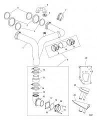Комплект выводящей трубы глушителя X-Haust Стропильного типа, левый борт