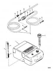 Топливный бак и топливопровод (Пластм., 6.6 галл.)