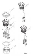 Схема Комплект переключателя пуска/останова– панельное крепление 887767K01-K05