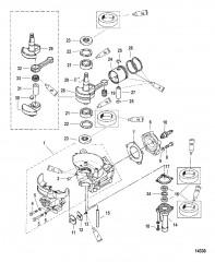 Схема Блок цилиндров/коленчатый вал/поршень