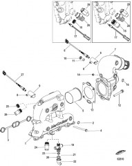 Схема Exhaust Manifold and Elbow
