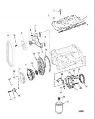 Схема Впускной коллектор и передняя крышка