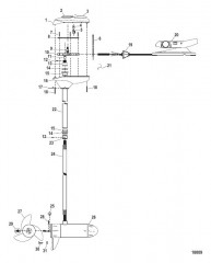 Двигатель для тралового лова в сборе (Модель FW54FBD) (12 В)