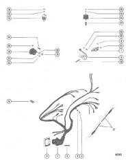 Схема ЭЛЕКТРОПРОВОДКА, ПРЕРЫВАТЕЛЬ ЦЕПИ И ЭЛЕКТРОМАГНИТ СТАРТЕРА