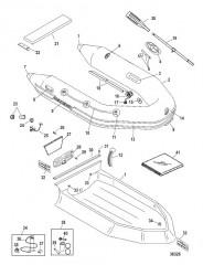 Схема Надувные лодки Dynamic из ПВХ 260/280/310 (Quicksilver 2009)