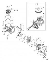 Схема Комп. воздушного компрессора 200/225/200 Pro XS 1B885131 и ниже