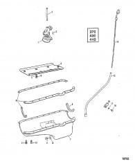 Схема Маслосборник и масляный насос (370/400/440)