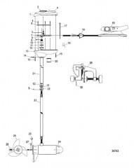 Двигатель для тралового лова в сборе (Bulldog 40) (12 В)