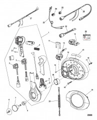 Схема Дистанционное управление – 4000 GEN II (Пистолетная рукоятка) Панельное крепление