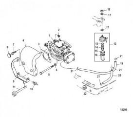 Схема Шумопоглотитель и топливопроводы