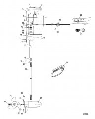 Двигатель для тралового лова в сборе (Модель FW71FBD / FW71FBV) (24 В)