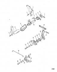 Тяга газа/тяга управления переключением передач (SeaPro/Marathon 10)