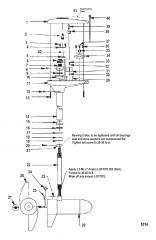 Двигатель для тралового лова в сборе (Модель TE784V) (36 В)