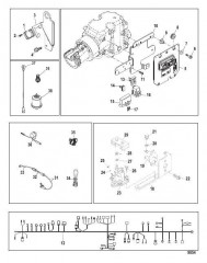 Схема Electrical Components (Mechanical Throttle and Shift)