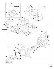 Схема Форсунка и руль (Серийный номер от 0E203000 до 0E344999)