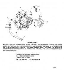 Схема Трансмиссия (V-привод Walter)