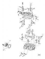 Схема Карбюратор Четырехдиффузорный, Alpha