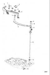 Схема Тяга механизма переключения передач Big Tiller