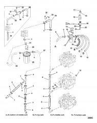 Схема ТОПЛИВОПРОВОДЫ (ВПРЫСК МАСЛА)