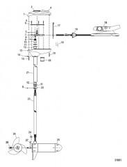 Двигатель для тралового лова в сборе (Модель FW36FT) (12 В)