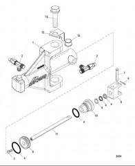 Схема Компактный привод рулевого механизма с гидроусилителем