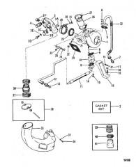 Схема Турбонагнетатель/выхлопной коленчатый патрубок