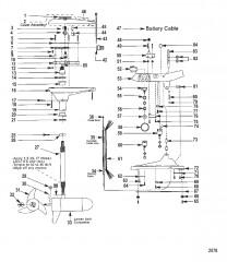Двигатель для тралового лова в сборе (Модель 736) (12 В)