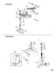 Схема Крепление двигателя