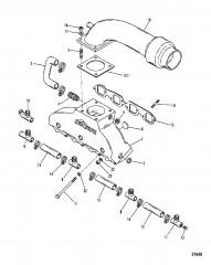 Схема Выхлопной коллектор / коленчатый патрубок (Система 420 GIL)