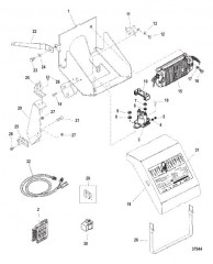 Схема ELECTRICAL BOX AND COMPONENTS (S/N 0L002700 AND UP)