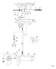 Двигатель для тралового лова в сборе (Модель TT4500) (12 В)