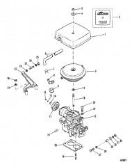 Схема Карбюратор и тяга газа (185)