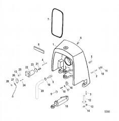 Корпус кардана в сборе Стропильный тип, (мокрый и сухой поддон)