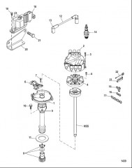 Схема Distributor and Ignition Components