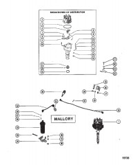 Распределитель и компоненты системы зажигания (Mallory)