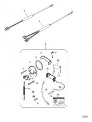 Схема Комплект выключателя/талрепа – установка заподлицо