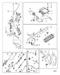 Схема Электрические компоненты Цифровое управление газом и реверсом