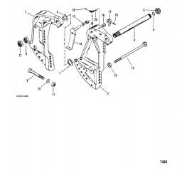 Схема Транцевый кронштейн (Усилитель дифферента)