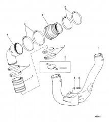 Схема Выхлопная система (3 выхлопной коленчатый патрубок)